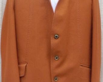 XL 70s SUIT  2PC  caramel color