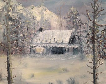 Shelter for the night, 16 x 20 inch oil painting on canvas board by Susan Cere