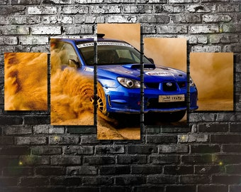 Subaru Canvas, Subaru Impreza WRX STI Poster, Subaru Wall Art, Print, Home