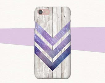 Abstract Geometric iPhone 6 Case, Geometric Phone Case, Purple iPhone Case, Faux Wood iPhone 7 Plus Case, Abstract iPhone Case Purple, SE