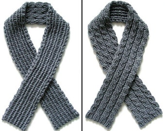 Reversible Cable Scarf - PDF Crochet Pattern - Instant Download