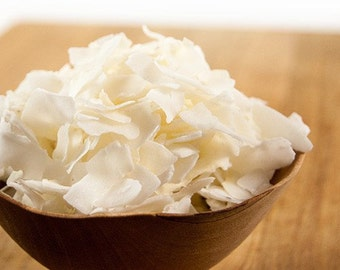 Coconut Flakes Unsweetened , Coconut Chips, Coconut Shredded   2oz, 4oz, 8 oz Culinary Food Grade