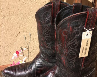 Dan Post Cowboy Boots with Antique Finish