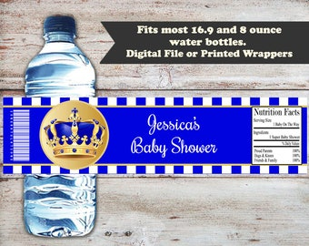 Little Prince Baby Shower Water Wrapper, Little Prince Baby Shower,  Little Prince Wrappers, Little Prince Party Favor, Digital or Printed