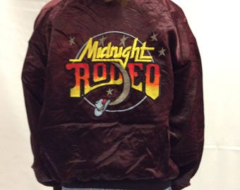 RARE 80s Midnight Rodeo Vintage Bomber Jacket