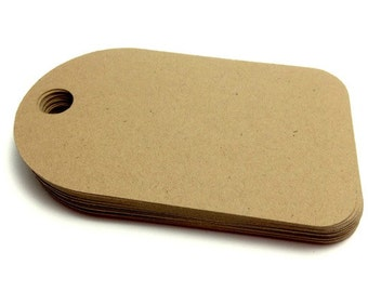 25 Round Edge Gift Tags - Blank Gift Tags - Kraft Tags - Wishing Tree Tags - Product Label - Merchandise Label - Hang Tag - Brown Kraft Tag