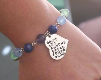 Be Yourself Bracelet, Love Yourself Bracelet, Stay True to Yourself, Abuse Survivor Bracelet, Narcissistic Abuse Survivor, Heart Bracelet