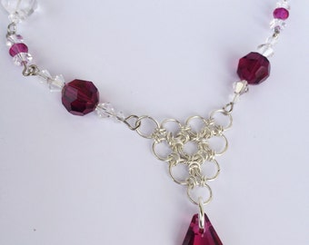 Crystal and Chainmaille Necklace
