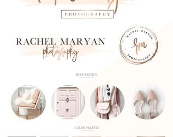 Logo design/ photography logo/ branding package/ branding kit/ premade wedding logo/ custom business logo design/ watercolor feminine logo