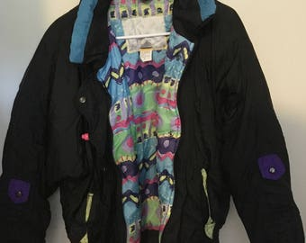 Small Black and Neon Ski Jacket