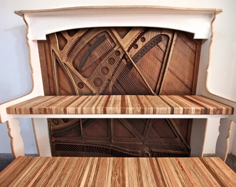 Vintage Reclaimed Antique Piano Desk for Home Office // iMac - Macbook - iPad  - Laptop