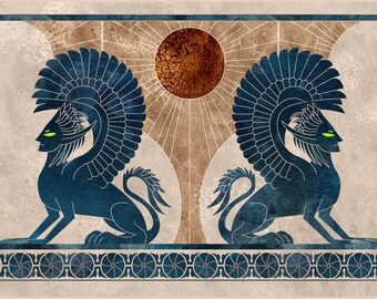 Sphinxes - Fantasy Illustration