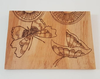 Wooden butterfly art