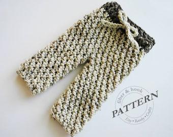 CROCHET PATTERN - Cherub Baby Pants, Crochet Pants Pattern, Crochet Photo Prop Pattern, Baby Pants Pattern (Newborn- 18 mo. sizes) pdf# 040P