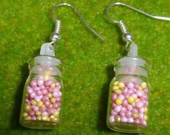 Candy Sprinkles Jar Earrings