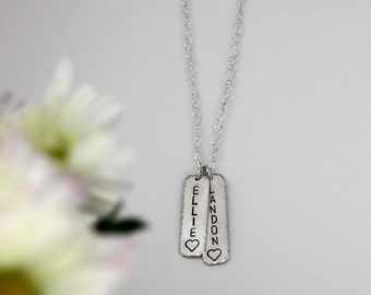 Mother's necklace, Grandmother's necklace, Lover's necklace, Personalized necklace, Sterling silver