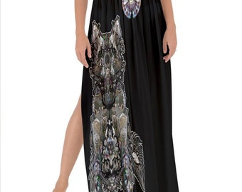 Dire Wolf, (All over print) Maxi Chiffon Tie-Up Sarong