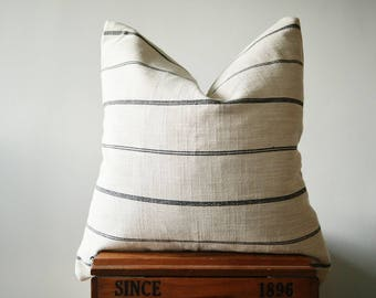 THE OLYMPIA 24x24 Stripe Square Pillow Cover