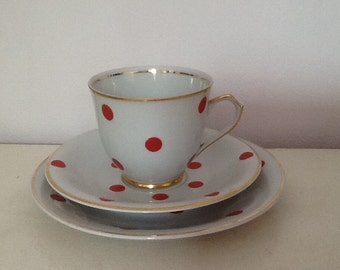Vintage Cmielow  Cup Saucer and Side Plate.