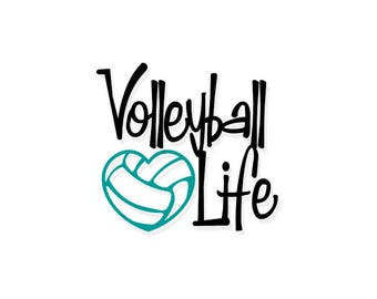Volleyball Life   Volleyball Life Swirl   Volleyball   Volleyball Mom   Vinyl Decal   Decal   Volleyball Decal   Volleyball Vinyl Decal