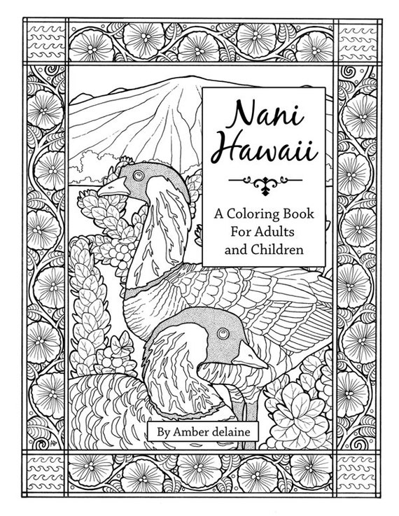 Nani Hawaii A Coloring Book Of For Adults And