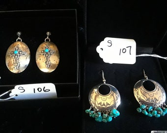 Choice of silver and turquoise earrings