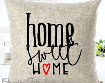 Home Sweet Home Cover Decorative Throw Pillow Case Cover