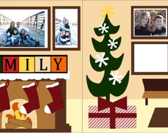 """Scrapbook 2 Page Layout """"Family Christmas"""""""