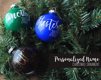 Personalized Name 2017 Christmas Ornament / Bauble / Bulb