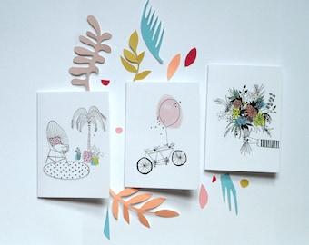 Lot 3 cartes postales