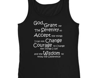 12 Step Recovery Serenity Prayer Ladies' Tank