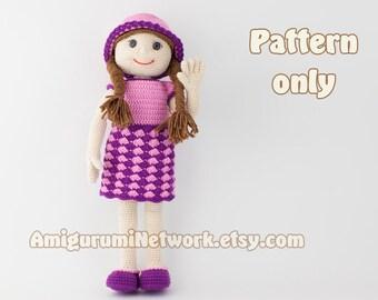 CROCHET PATTERN - Doll amigurumi Anastasia. PDF