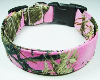 Pink Camouflage True Timber Dog Collar