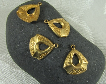 Pretty little Vintage brass dangle/ drops