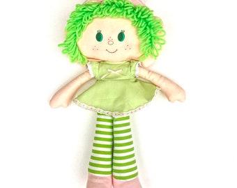 Lime Chiffon Rag Doll | Vintage Lime Chiffon Cloth Doll | Kenner Strawberry Shortcake Soft Doll | American Greetings Plush Doll | Plushie