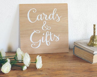 Gifts and Cards  Sign, Rustic Wooden Wedding Signs, Wedding Decor. Boho Wedding. Wedding Decorations