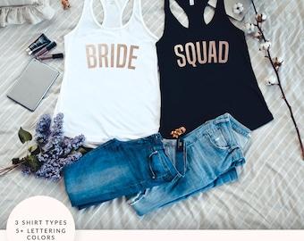 Bachelorette Party Shirts, Bride Squad Tank Top, Bride Squad Shirt, Bachelorette Party Tank Tops, Bride Tank Top, Bachelorette Tanks