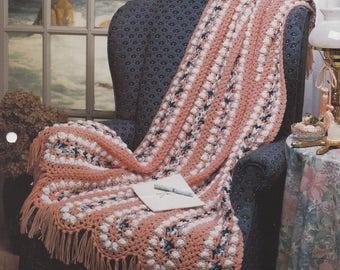 Misty Morning, The Needlecraft Shop Crochet Afghan Pattern Leaflet 942050