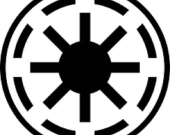 Galactic Republic Star Wars Decal Sticker
