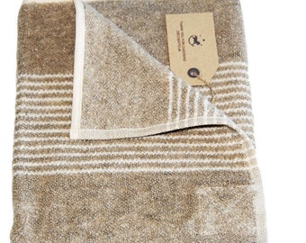 Set of 2 Terry Linen Towels, brown