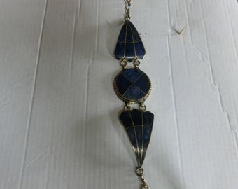 123 Afghani Lapis bracelate handmade,