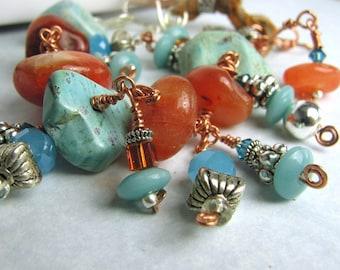 Restless Soul Gemstone Charm Bracelet
