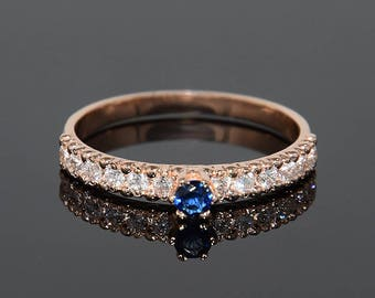 Sapphire ring, Sapphire engagement ring, Sapphire diamond ring, Diamond engagement ring, Blue sapphire ring, Blue stone ring gold