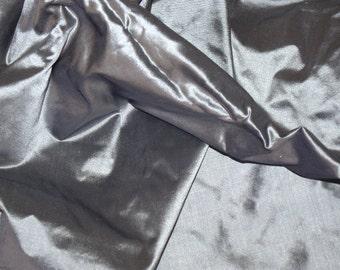 Fine Indian Silk Taffeta in Grey with pale purple- fat quarter-TF 81