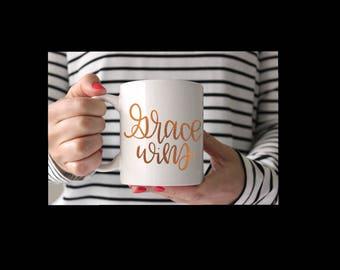 Grace Wins - Hand lettered SVG