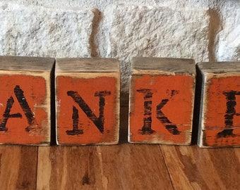 THANKFUL Rustic Fall Decor-THANKFUL Thanksgiving Decor-Fall Decor