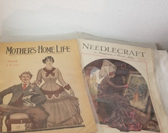 Pair of Vintage 1930s Magazines, great advertising, great stories, Vintage advertising, collector magazine, Vintage art, Memorabilia,