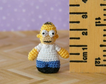 PDF PATTERN - Crochet Miniature Cartoon Man - Amigurumi Tutorial