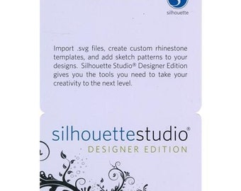 Silhouette Studio Designer Edition License Key Code  For Cameo, Curio Portrait   49.99 value