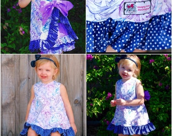 Girls Toddler Cinderella  Pinafore and Bloomer 9m 12m 18m 24m 2T 3T 4T